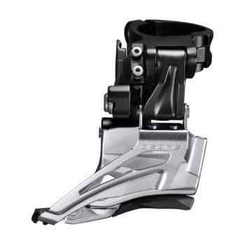 IFDM618HTX6 350x350 - Перек-ль передний Shimano Deore, M618-H, для 2x10, верхн. хомут(34,9 с адапт 28.6/31.8), верхн. тяга, цв. черн.