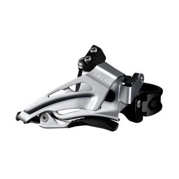 IFDM618LX6 350x350 - Перек-ль передний Shimano Deore, M618-L, для 2x10, нижн. хомут(34,9 с адапт 28.6/31.8), нижн. тяга, цв. черн.